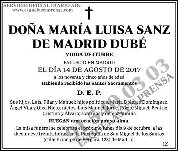 María Luisa Sanz de Madrid Dubé